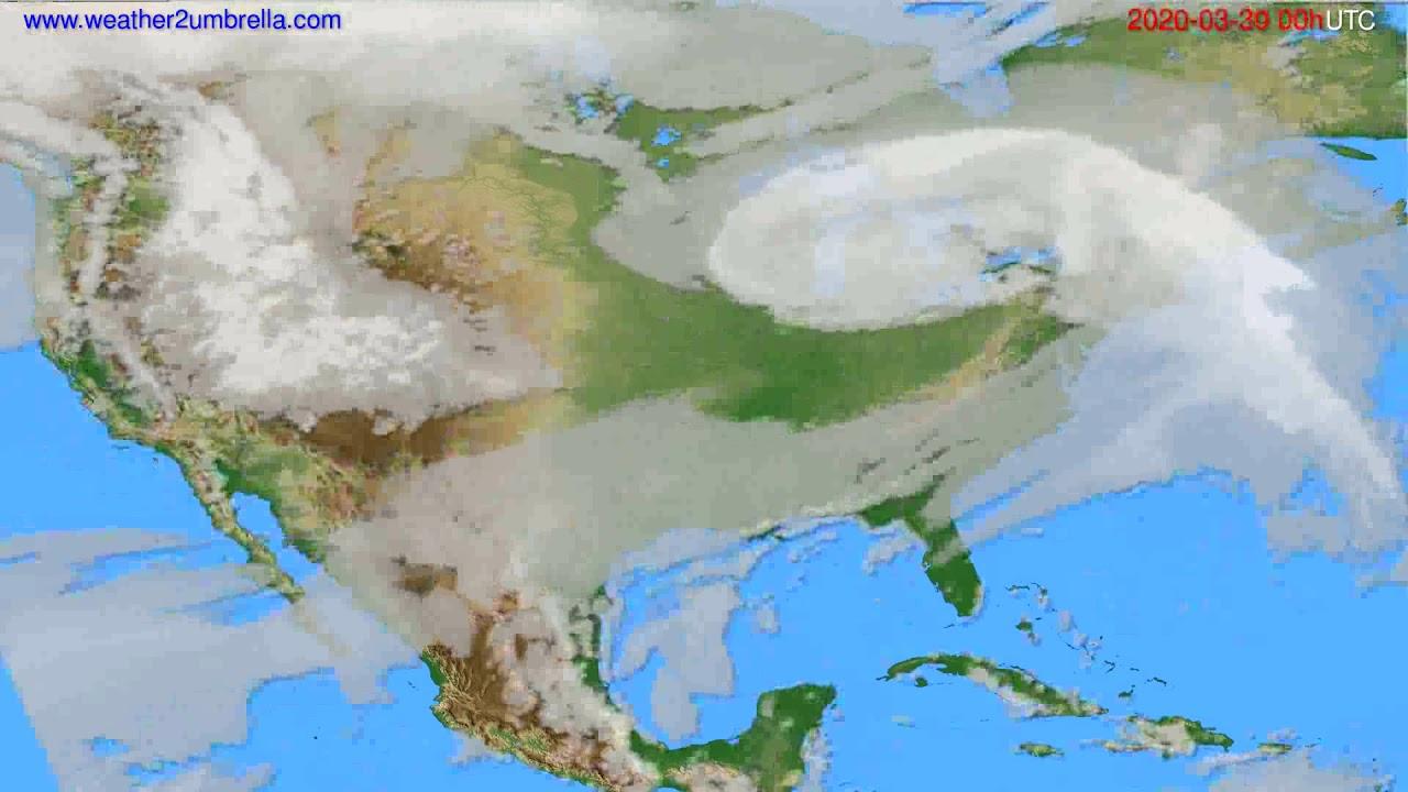 Cloud forecast USA & Canada // modelrun: 00h UTC 2020-03-29