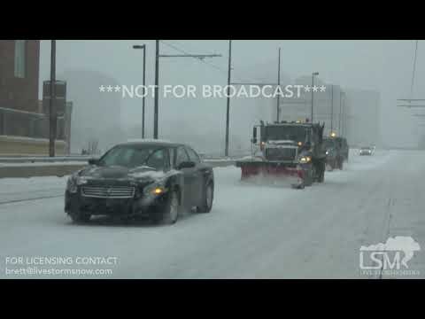 02-15-2019 Kansas City, MO Downtown Cars Stuck, Heavy Snow, and Low Visibility.mp4