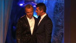 Out for a fag Simon Cowell deprives miffed Graham Norton - British Academy Television Awards 2010