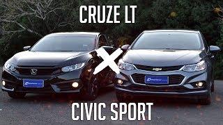 Ver o vídeo Comparativo: Cruze LT x Civic Sport