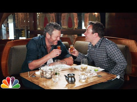 Blake Shelton Eats Sushi for the First Time with Jimmy