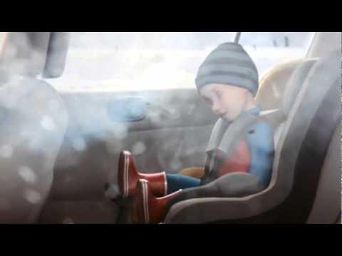 Безопасный способ установки детского автокресла оснащенного 5-ти точечными ремешками безопасности.