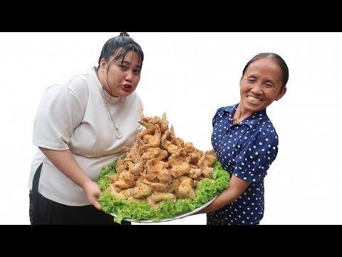 Bà Tân Vlog - Làm Đĩa Cánh Gà KFC Siêu To Khổng Lồ | KFC fried chicken - Thời lượng: 16:11.