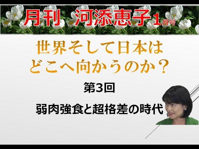 【1月19日配信】月刊河添恵子 1月号世界そして日本はどこへ向かうのか? 第3回 弱肉強食と超格差の時代 兼次映利加 河添恵子【チャンネルくらら】