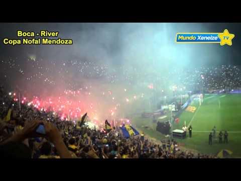 Mendoza 2016 /recibimiento al equipo - La 12 - Boca Juniors