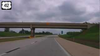 Eastbound US Highway 412, Tulsa OK to Siloam Springs, AR (Part 3)