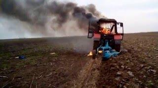 MTZ Belarus - izgorila kabina nakon zapaljenja instalacije.