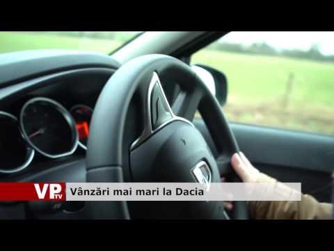 Vânzări mai mari la Dacia