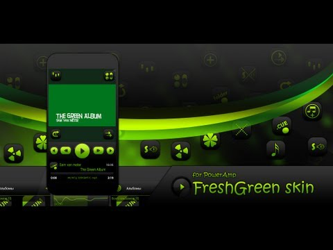 Video of PowerAmp FreshGreen Skin