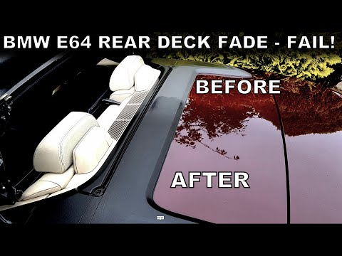 BMW E64 6-Series, Rear Deck Plastic Restoration