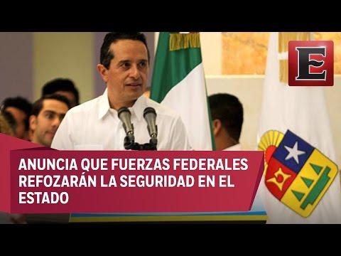 Violencia es en respuesta a acciones de seguridad, afirma gobernador de Quintana Roo