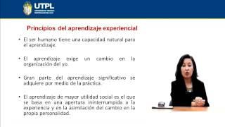 UTPL EL APRENDIZAJE EXPERIENCIAL [(PSICOLOGÍA)(PSICOLOGÍA DEL APRENDIZAJE)]