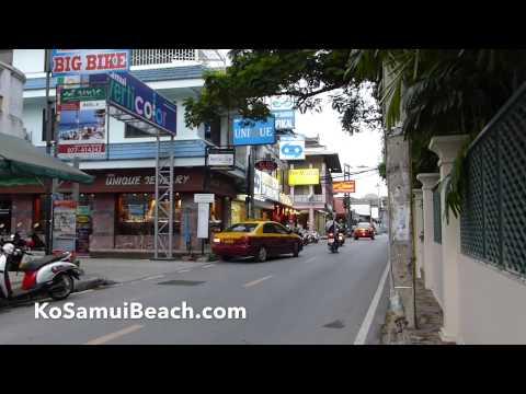 Chaweng shopping street part 1 Koh Samui Thailand