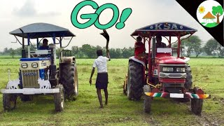 High speed tractor race / Mahindra tractor vs swaraj 744 tractor racing video - Come to Village