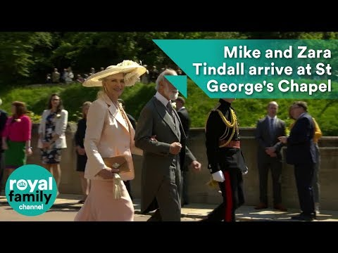 Mike and Zara Tindall arrives at Royal Wedding 2018 of Prince Harry and Meghan Markle (видео)
