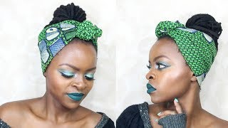 Kitenge Headscarf Inspired Makeup Tutorial || MdeiziMakeup