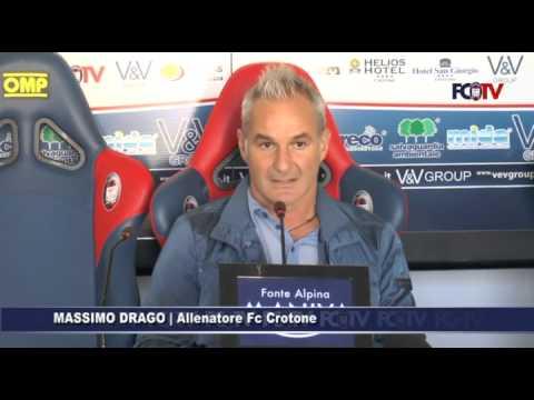 Crotone-Reggina, Massimo Drago in conferenza