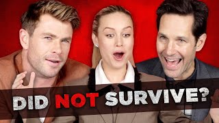 "Video The Cast Of ""Avengers: Endgame"" Tries To Survive Thanos's Snap MP3, 3GP, MP4, WEBM, AVI, FLV Juni 2019"