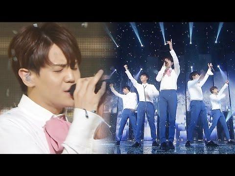 《MOURNFUL》 BEAST - Ribbon @인기가요 Inkigayo 20160724 (видео)
