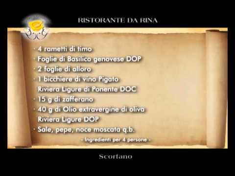"""Genova Gourmet, ristorante  Da Rina, video ricetta """"scorfano"""""""
