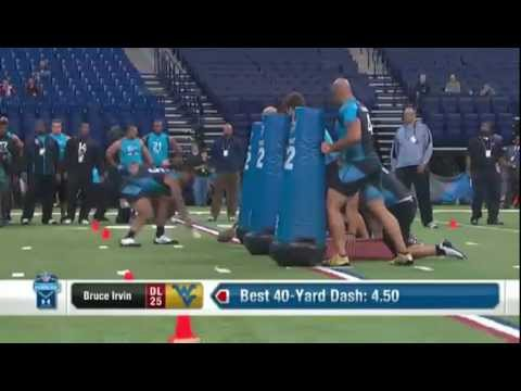 NFL Combine - Bruce Irvin NFL Combine Highlights.