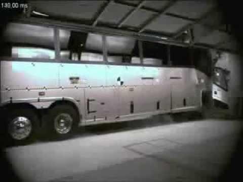 Краш тест автобуса