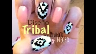 Diseño Tribal en Blanco y Negro - YouTube