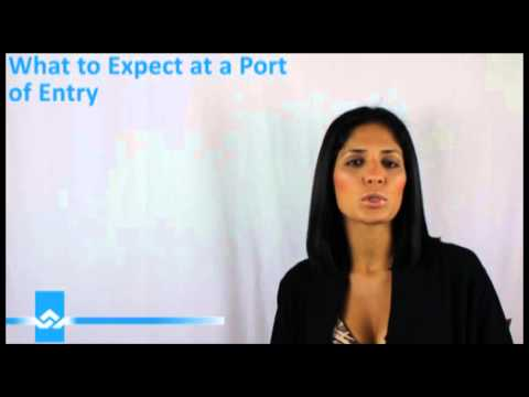 What to Expect at the Canadian Port of Entry Video