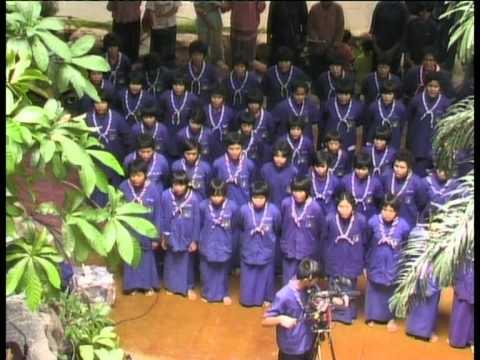พญาแร้ง - นักเรียนสัมมาสิกขาจากพุทธสถาน ของอโศก ร้องเพลงถวายพ่อท่าน สมณะโพธิรักษ์...