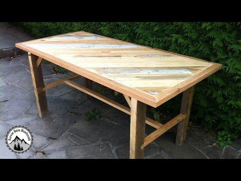Fabrication d'une table solide en bois de récupération - Partie 1