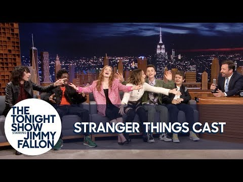 "The Stranger Things Cast Teaches Jimmy the ""Chicken Noodle Soup"" Song"