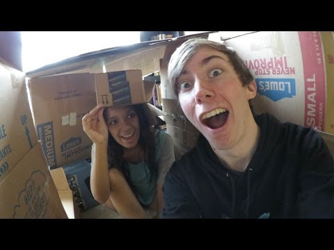 Fort - Today we had to clean up our collection of a million moving boxes. But, first: BOX FORT BUILDING TIME! haha. Our fort of boxes (my bachelor pad) lasted about...