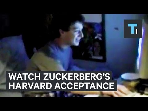 Watch Mark Zuckerberg discover he was accepted to Harvard