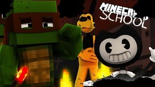 BENDY AND THE INK MACHINE TAKE OVER MINECRAFT SCHOOL - W/ Little Kelly
