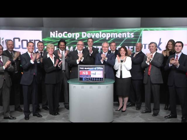 NioCorp Developments Ltd. (TSX:NB) opens Toronto Stock Exchange, March 11, 2015.