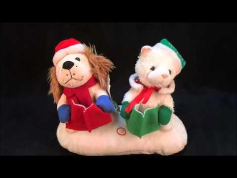 Beverly Hills Teddy Bear Co Singing Snow Pets Christmas Plush Display