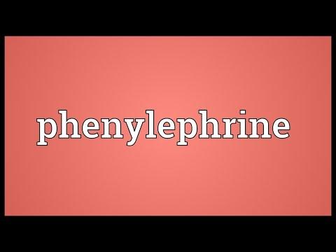 Phenylephrine Meaning
