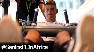 Nesta segunda-feira (28), os atletas do time Sub-19 do Santos FC fizeram o segundo dia de treinamentos na África do Sul, como...