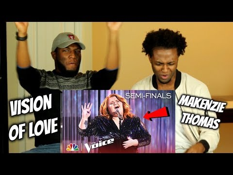 "MaKenzie Thomas Stuns With ""Vision Of Love"" - The Voice 2018 Live Semi-Final (REACTION)"