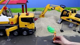 Video Bagger, Lastwagen, Kran, Truck & Traktor Baustelle für Kinder | Alle BRUDER Toys Spielzeugautos download in MP3, 3GP, MP4, WEBM, AVI, FLV January 2017