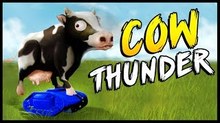 DERPY ANIMAL SIMULATOR! Total Tank Simulator Meets Beast Battle Simulator - Cow Thunder Simulator