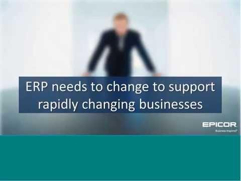 Epicor ERP version 10 Webcast