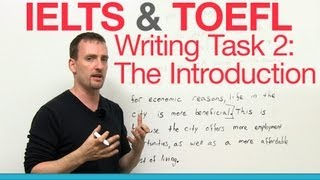 IELTS&TOEFL Writing Task 2 - The Introduction