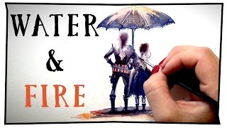 WATER & FIRE    Mary Doodles Time lapse painting