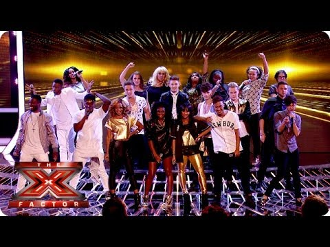 The Final 12 sing Get Lucky - Live Week 1 - The X Factor UK 2013