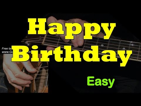 Happy Birthday To You – super easy + TAB! Guitar lesson for beginners, learn to play
