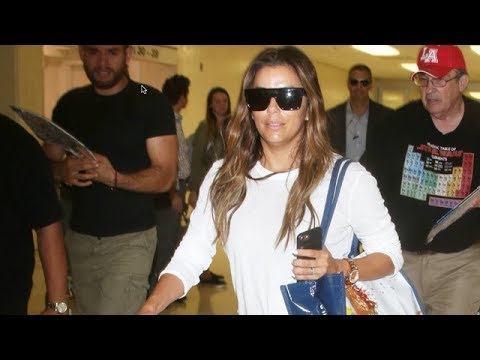 The Always Lovely Eva Longoria Returns To LA After Live With Kelly And Ryan Appearance