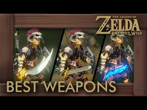 Zelda Breath of the Wild - Best Weapons (One-Handed Swords by Damage + Durability) (видео)