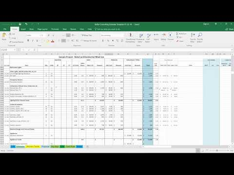 FREE Stellar Consulting Construction Estimate Template