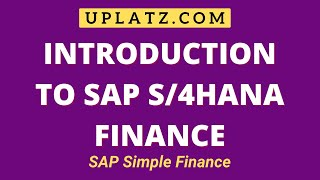 SAP Simple Finance - HANA Finance Training
